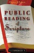 Public Reading of Scripture Paperback