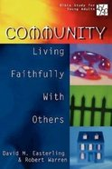 Community (20/30 Bible Study For Young Adults Series) Paperback