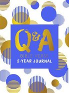 Q & a Bible Verse 5-Year Journal Blue Hardback