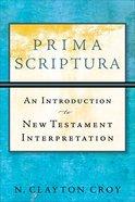 Prima Scriptura Paperback