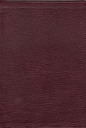 NKJV Thompson Chain Reference Burgundy Index (Red Letter Edition) Genuine Leather