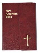Nab Saint Joseph Personal Size Bible Burgundy Magnet Bonded Leather
