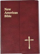 Nab Saint Joseph Personal Size Bible Burgundy Magnet Bonded Leather