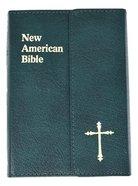 Nab Saint Joseph Bible Personal Size Green Magnet Bonded Leather