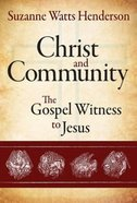 Christ and Community Paperback