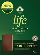 NLT Life Application Study Bible Third Edition Large Print Brown/Tan Indexed (Black Letter Edition) Imitation Leather
