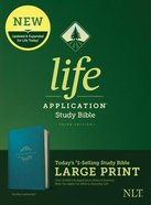 NLT Life Application Study Bible Third Edition Large Print Teal Blue (Black Letter Edition) Imitation Leather