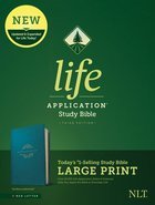 NLT Life Application Study Bible 3rd Edition Large Print Teal Blue (Red Letter Edition) Imitation Leather