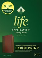 NLT Life Application Study Bible 3rd Edition Large Print Brown/Mahogany (Red Letter Edition) Imitation Leather