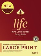 NIV Life Application Study Bible Third Edition Large Print Indexed (Black Letter Edition) Hardback