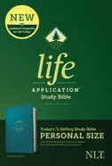 NLT Life Application Study Bible 3rd Edition Personal Size Teal Blue (Black Letter Edition) Imitation Leather