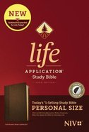 NIV Life Application Study Bible 3rd Edition Personal Size Dark Brown/Brown Indexed (Black Letter Edition) Imitation Leather