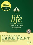 NLT Life Application Study Bible 3rd Edition Large Print Indexed (Red Letter Edition) Hardback