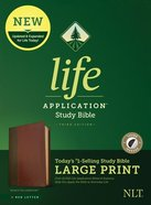 NLT Life Application Study Bible 3rd Edition Large Print Brown/Mahogany Indexed (Red Letter Edition) Imitation Leather