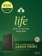 NLT Life Application Study Bible Third Edition Large Print Black Indexed (Red Letter Edition) Genuine Leather