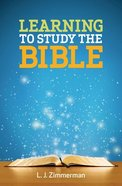 Learning to Study the Bible (Participant Book) Paperback