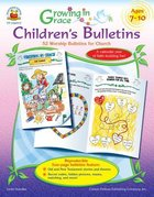Growing in Grace: Children's Bulletins (Ages 3-6) Paperback