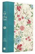 KJV Study Bible Floral (Red Letter Edition) Hardback