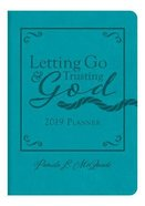 2019 15-Month Diary/Planner: Letting Go and Trusting God, Teal Leatherlook