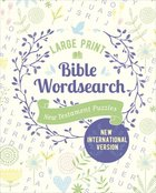 Large Print Bible Wordsearch: New Testament Puzzles (Niv Edition) Paperback