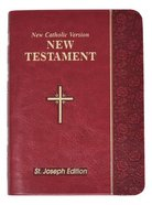 New Catholic Version St. Joseph New Testament Vest Pocket Burgundy Imitation Leather