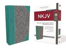 NKJV Deluxe Reference Bible Super Giant Print Blue (Red Letter Edition)