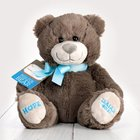 Hug For Your Heart Bear: Hope Isaiah 40:31, Dark Gray/Blue Ribbon Soft Goods