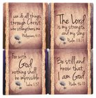 Ceramic Square House Coaster Set of 4: Have Faith, Cream Homeware