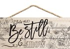 String Sign: Be Still & Know Floral Outlines (Psalm 46:10) Plaque