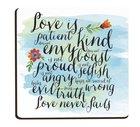 Magnet: Love is Patient, Kind..., Blue/Green Novelty