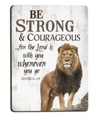 Magnet: Be Strong & Courageous Lion (Joshua 1:9) Novelty