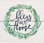 Magnet: Bless Our Home, Leaf Wreath Novelty