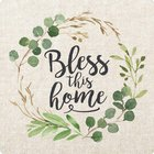 Magnet: Bless This Home, Leaf Wreath Novelty