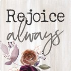 Magnet: Rejoice Always, Floral Novelty