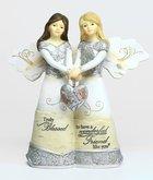 Elements Angel: Friendship, Double Angels Holding Heart Homeware