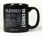 Ceramic Mug Simple Faith: Blessed, Black/White (Isaiah 43:1) Homeware