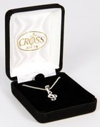 Necklace: Silver Plated Cross With Musical Staffon 45Cm Silver Plated Chain Jewellery