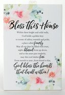 Woodland Grace Plaque: Bless This House, Pink/Floral Plaque