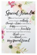 Woodland Grace Plaque: Special Friend Pink/Floral Plaque