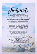 Woodland Grace Plaque: Footprints Plaque