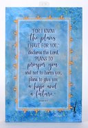 Whispers of the Heart Plaque: For I Know the Plans I Have For You... Pale Blue Plaque