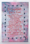 Whispers of the Heart Plaque: Love is Patient, Love is Kind... Pink Plaque