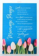 New Horizons Bright Plaque: Marriage Prayer, Aqua/Coloured Tulips Plaque