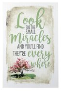 New Horizons Plaque: Look For the Small Miracles and You'll Find They're Everywhere, Pink Tree/Beige Plaque
