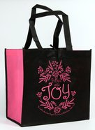Tote Bag: Filled With Joy, Black/Dark Pink Soft Goods