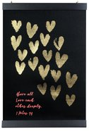 Love Collection Hanging Banner: Love Each Other, Black With Gold Hearts Homeware
