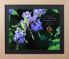 Framed Art Print: Me and My House, Purple 'Geisha Girl' Flower (Joshua 24:15) Plaque