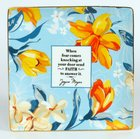 Joyce Meyer Trinket Tray: When Fear Comes Knocking, Orange Flowers Homeware