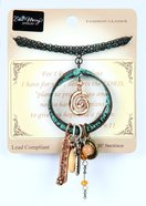 Adorned Necklace: Multiple Pendants on Circle, For I Know the Plans... , 76Cm in Length, Zinc Based (Jer 29:11) Jewellery