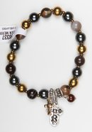 Story Bracelet: Stretchable, Semi-Precious Stones, 20Cm Jewellery